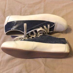 Yargici Shoes - Yargici leather navy snakeskin sneakers 9.5